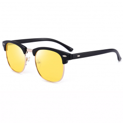 Classic Night Vision Semi-Frame Polarized Glasses for Night Driving